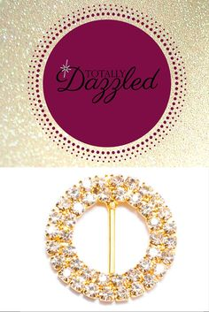 Double circle slider buckle available in gold and silver for only $1.50 each! Find this and more at totallydazzled.com. You'll definitely shine bright on your special day!