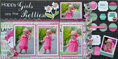 KaiserCraft Fly Free collection Page Layout, Layouts, Happy Love, Scrapbooking Ideas, Frame, Girls, Collection, Picture Frame, Little Girls