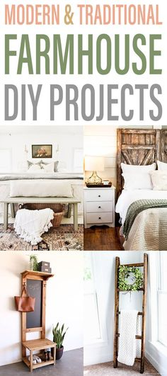 Modern Home Decor Modern and Traditional Farmhouse DIY Projects that are absolutely wonderful and come with complete tutorials. Home Decor Modern and Traditional Farmhouse DIY Projects that are absolutely wonderful and come with complete tutorials. Farmhouse Style Furniture, French Farmhouse Decor, Industrial Farmhouse, Farmhouse Design, Rustic Farmhouse, Cottage Farmhouse, Farmhouse Table, Industrial Furniture, French Country