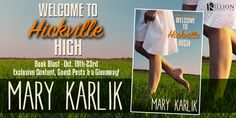 We've got a great interview with author Mary Karlik about her debut novel, WELCOME TO HICKVILLE HIGH, today on Swoony Boys Podcast