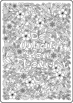 Do More of What Makes You Happy flower design coloring page for