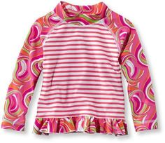 L.L. Bean Toddler Girls' Sea Spray Ruffle Surf Shirt