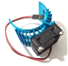 RC Electric 1:10 Car 540 550 3650 Motor Upgrade Alloy Heat Sink & Cooling Fan UK #Unbranded