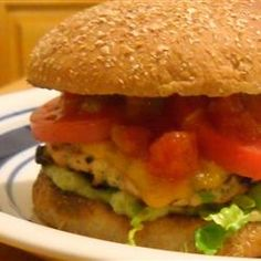 Green Chili Chicken Burgers Allrecipes.com