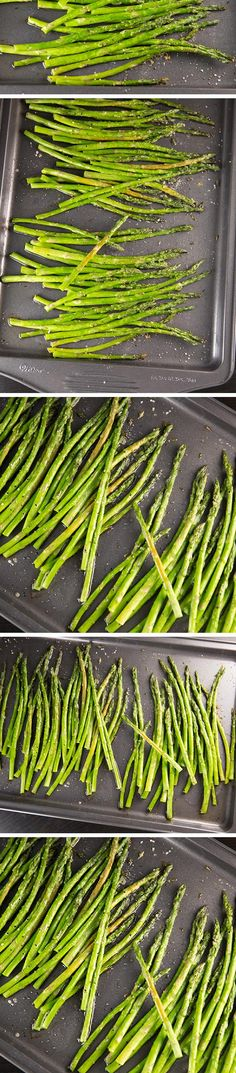 Tender OVEN ROASTED ASPARAGUS will soon be your favorite way to prepare asparagus! It's ready in 20 minutes and only requires olive oil, salt, and black pepper. You can dress it up by adding parmesan cheese, garlic, or even fresh lemon juice! The roasting adds a depth of flavor that can't be beat!