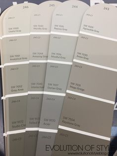 Sherwin Williams Gray Colors paint colors sherwin williams The Paint Picking Process: Exterior Edition Interior Paint Colors For Living Room, Exterior Paint Colors For House, Bedroom Paint Colors, Paint Colors For Home, Grey Interior Paint, Farmhouse Paint Colors, Living Room Paint, Sherwin Williams Grau, Dovetail Sherwin Williams