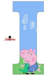 SGBlogosfera. María José Argüeso: ABECEDARIO GEORGE PIG Abecedario Baby Shower, Cumple George Pig, Familia Peppa Pig, George Pig Party, Cumple Peppa Pig, Pig Character, Peppa Pig Family, Hello Kitty Coloring, Pig Birthday