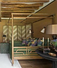pretty bohemian style bedroom
