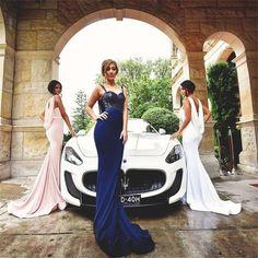 2017 sequin mermaid long sparkly  sleeveless bridesmaid dresses, free custom prom dress, PD208