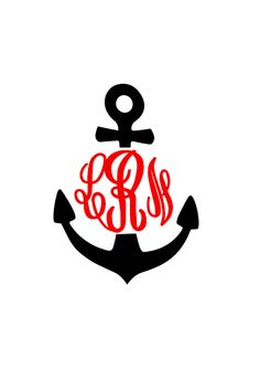 4x3 Monogrammed Anchor Decal for Car by MeowMeowHouseDesigns, $7.00