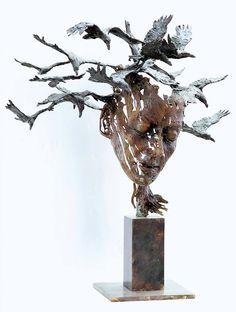 The girl with the shadows by Philip Wakeham sculptor Human Sculpture, Sculpture Art, Pottery Sculpture, Bronze Sculpture, Statues, Traditional Sculptures, Cement Art, Art Moderne, Human Art