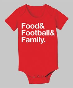 Take a look at this Red 'Food Football Family' Bodysuit - Infant by Food Fight on #zulily today!