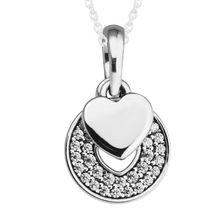 CKK 100% de Ley 925 de Plata de Joyería de Plata Collares para Las Mujeres DIY Joyería Que Hace Celebración Corazón Collares y Colgantes 036(China)
