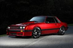 """Over the past few years, the Fox Body Mustang has exploded in popularity, especially with the younger generation of """"hot rodders"""". Fox Bodys are a hidden gem in the automotive world, and now is the time to get your hands on one before they're all gone. Best Muscle Cars, American Muscle Cars, Notchback Mustang, Fox Body Mustang, Capri, Pony Car, Sweet Cars, Mustang Cars, Ford Gt"""