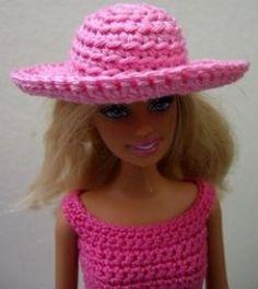 how to crochet barbie doll hat (pattern)