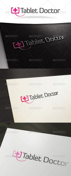 Tablet Doctor Logo Template: Object Logo Design Template created by squizmo. Logo Design Template, Logo Templates, Service Logo, Tree Logos, Medical Logo, Unique Logo, Health Logo, Cards Against Humanity, Branding