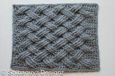 criss cross crochet that looks like knit