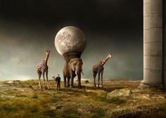 "photomontage ""returning the moon"" mattijn march 2014"