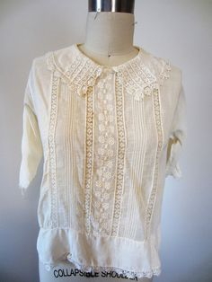 1910s cotton blouse / edwardian blouse / AS by TheLibrariansCloset, $24.00
