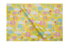 Adorable wrapping paper illustrated with baby elephants andballoons. Make gift giving fun with Dots andDoodles wrapping paper. They'll love the wrap as much a