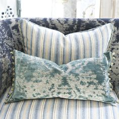 Morel Teal Royal Collection Velvet Throw Pillow | Designers Guild USA