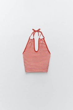 CHECK CUT-OUT TOP | ZARA India Cut Out Top, Co Ord, Two Piece Sets, Zara United States, Zara Women, Red And White, Plaid, Teen Fashion, Fashion Outfits