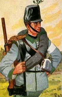 Österreich-Ungarn 1864: Pionier eines österreichischen Pionier-Batls.