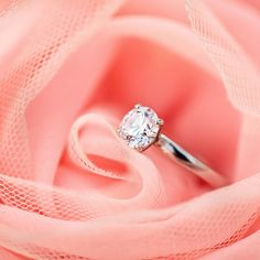this is my perfect ring - an elegant solitaire ring :) paired with a wedding band of small diamonds.