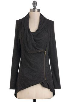 $54.99 Airport Greeting Cardigan in Charcoal, #ModCloth