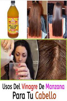 Usos del vinagre de manzana para tu cabello. #Salud #MundoSalud #CuidadoPersonal #Adelgazar #RemediosCaseros Tips Belleza, Apple Cider Vinegar, Ideas Para, Hair Beauty, Make Up, Hacks, Hair Styles, Vinegar Hair, Apple Cider Vinegar Uses