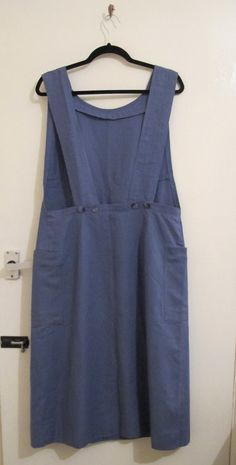 Vintage French industrial workwear artist pinafore by coVenVintage  -- This looks comfy!