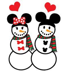 Minnie & Mickey de nieve