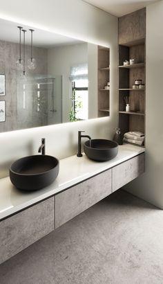 Bathroom Design Luxury, Modern Bathroom Design, Interior Design Kitchen, Washroom Design, Bad Inspiration, Bathroom Inspiration, Home Room Design, Small Bathroom, Bathroom Ideas