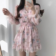 Korean Fashion Dress, Korean Outfits, Skirt Fashion, Fashion Dresses, Korean Clothes, Simple Outfits, Classy Outfits, Fairytale Dress, Light Dress