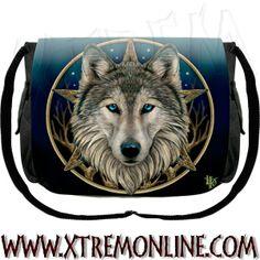 Bolso bandolera The Wild One #Lobo XT3694 ¡Echa un vistazo a nuestra colección de bolsos de hadas y dragones! #wolves