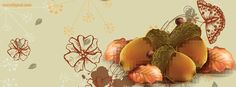 Autumn Fall Acorns Leaves Butterfly facebook cover  CoverLayout.com