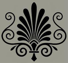 Victorian ornament stenci