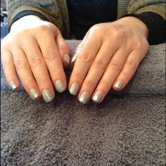 Shellac cityscape with faded silver stardust glitter