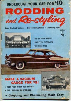 rodding and restyling magazine vtg aug 1958 hot rod drag race hop up custom