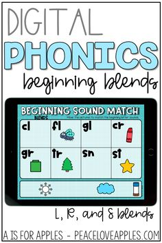 Get beginning blends phonics practice with these digital activities for PowerPoint, Google Slides, and Seesaw. Match pictures to beginning blends and match the blends to a picture.