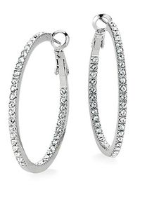 Hoops are a timeless, modern and ageless essential. They're one of the few items that are as appropriate on a tween as on a 60-year-old. Lia Sophia, $68; liasophia.com.