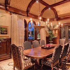 traditional dining room by R.J. Gurley Custom Homes