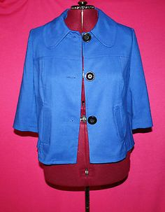 Lane Bryant Royal Blue Button Blazer Jacket Size 18 | eBay