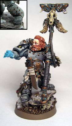 Drowned in Plastic: Modelling Tutorial: Making Studded Armor Warhammer 40k Space Wolves, Warhammer Art, Warhammer 40k Miniatures, Warhammer Fantasy, Warhammer 40000, Warhammer Models, Wolf Time, Fantasy Model, Fantasy Miniatures