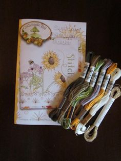 Crabapple Hill's Sunflower Stitchery Folder with by OhSewRetroLLC, $26.50 on Etsy