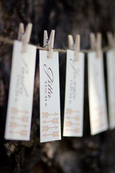 put escort cards on tree http://www.weddingchicks.com/2013/10/24/pastel-wedding-inspiration/