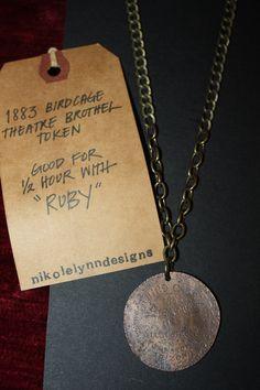 unisex brothel token necklace