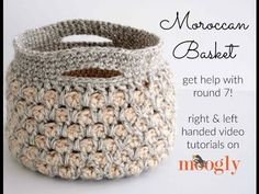 For more info check out the following special links! The Pattern/Blog: http://www.mooglyblog.com/moroccan-basket-video-tutorial/ The Hook: http://furlscroche...
