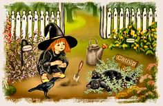 Elsie's Herb Garden - a garden guide for little witches