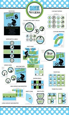 DIY BMX Party Package by LaurenHaddoxDesign on Etsy, $35.00